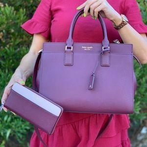 Kate Spade Cameron LG Satchel Crossbody Wallet Set